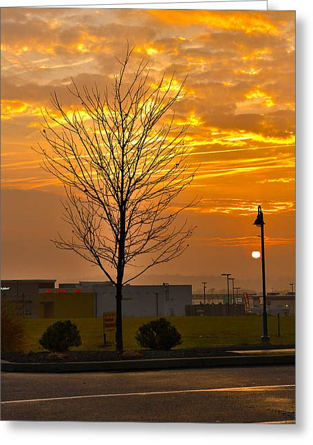 Retail Dawn Greeting Card