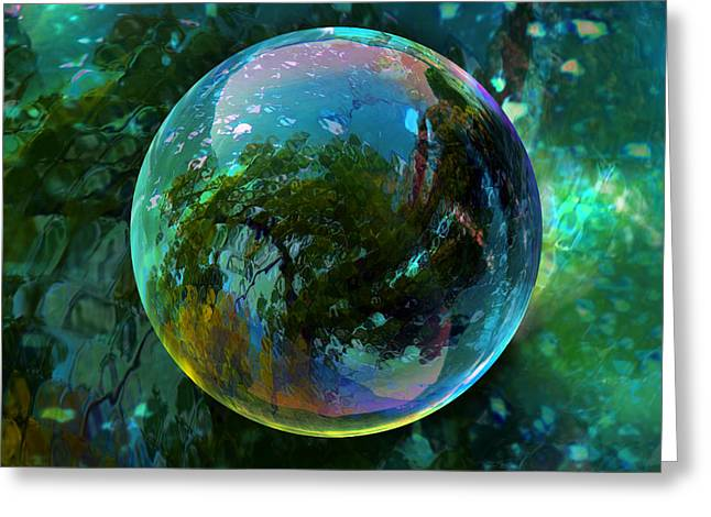 Reticulated Dream Orb Greeting Card by Robin Moline