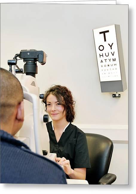 Retinal Eye Scan Greeting Card by Mcs