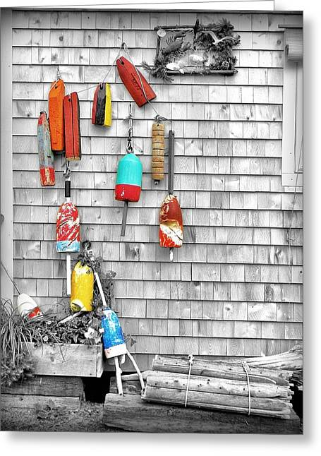 Retired Buoys Greeting Card