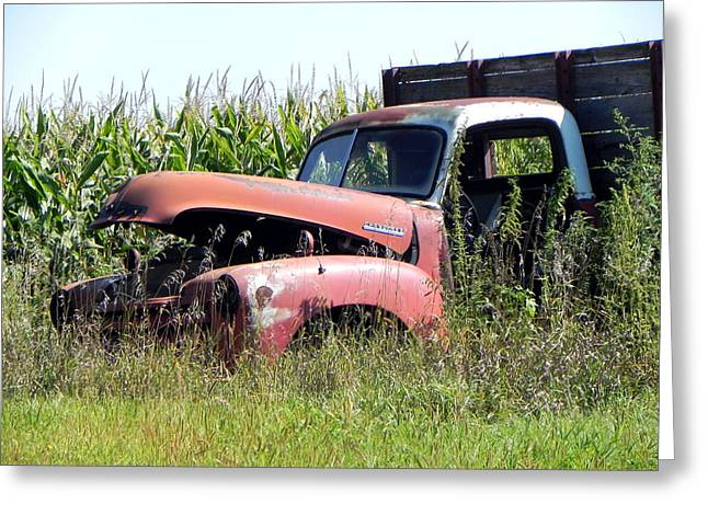 Greeting Card featuring the photograph Retired by Deb Halloran