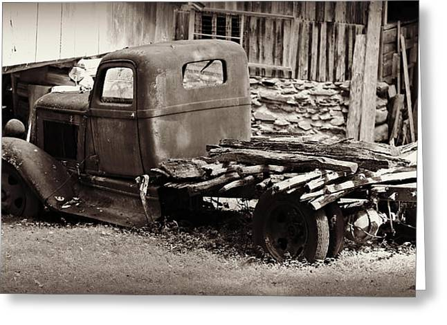 Retired Dodge Truck Greeting Card by Stephen Stookey