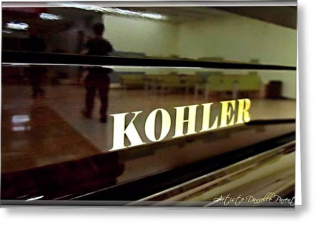 Retired Kohler Piano Greeting Card by Danielle  Parent