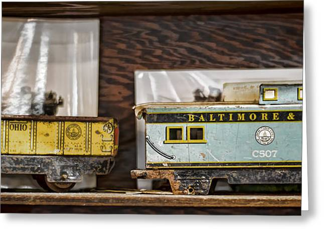Retired Trains Greeting Card