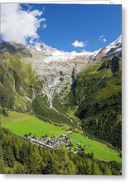 Retreating Glacier Du Tour Greeting Card