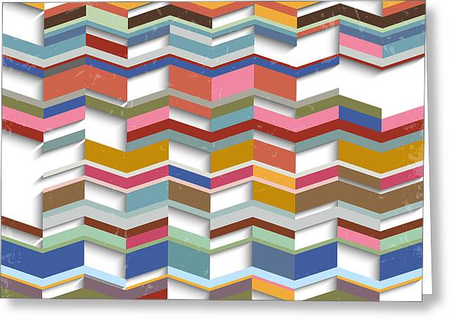 Retro Abstract Geometric Background Greeting Card