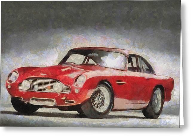 Retro Aston Martin Db5 1963-1965 Greeting Card