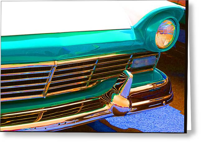 Retro Auto One Greeting Card by Denise Beverly