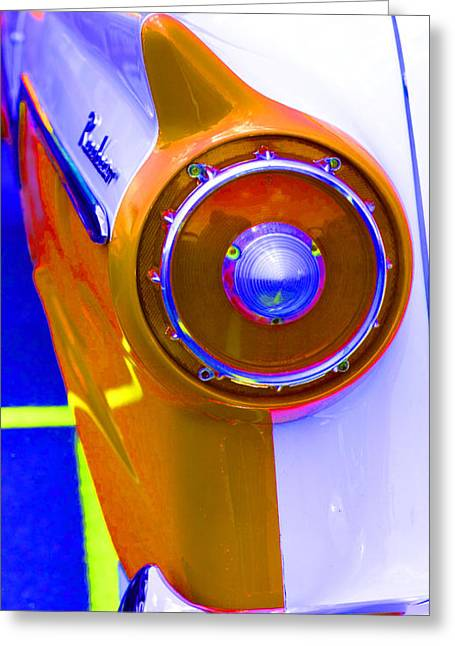 Retro Auto Three Greeting Card by Denise Beverly