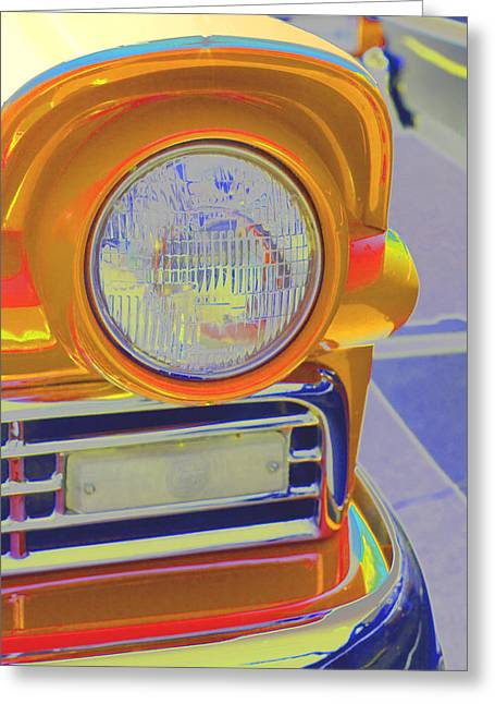 Retro Auto Two Greeting Card by Denise Beverly