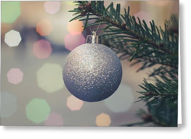 Retro Christmas Tree Decoration Greeting Card