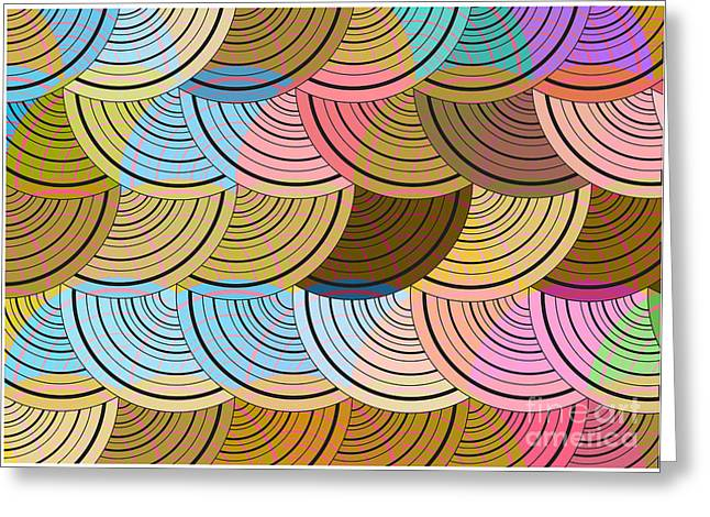Retro Circles Background Greeting Card