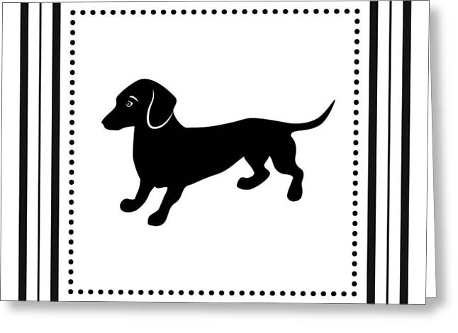 Retro Dachshund Greeting Card by Antique Images