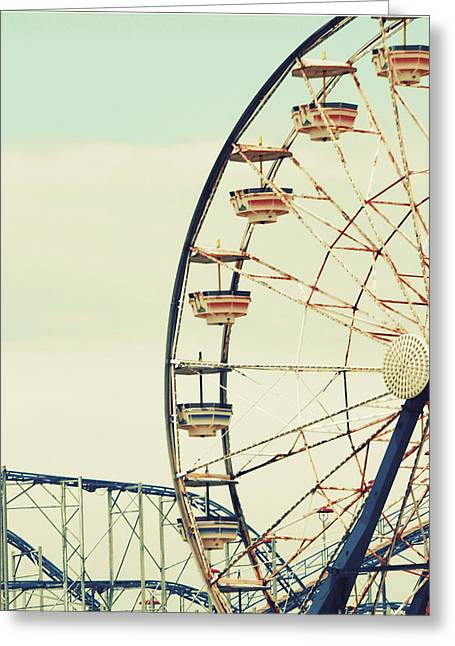 Retro Ferris Greeting Card by Gail Peck