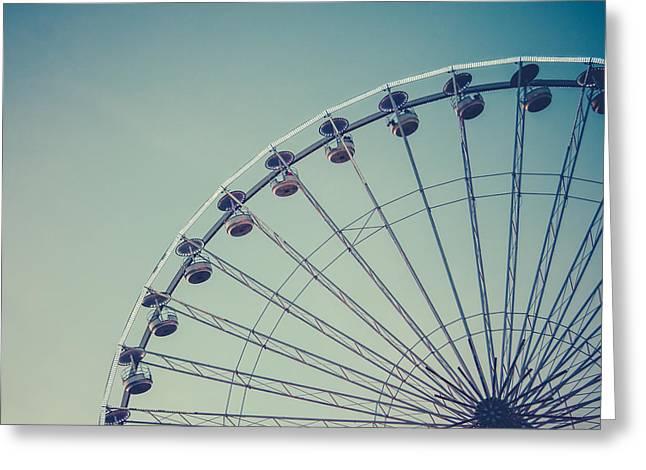 Retro Ferris Wheel Greeting Card