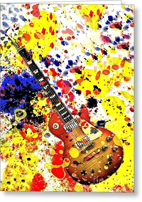 Retro Les Paul Greeting Card