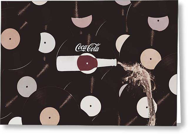 Retro Music Diner Background Greeting Card by Jorgo Photography - Wall Art Gallery