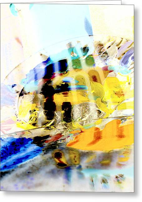 Greeting Card featuring the digital art Retro Reflections by Christine Ricker Brandt