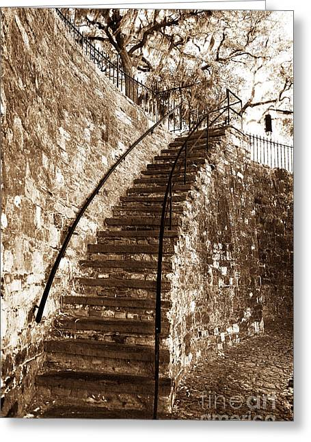 Retro Stairs In Savannah Greeting Card