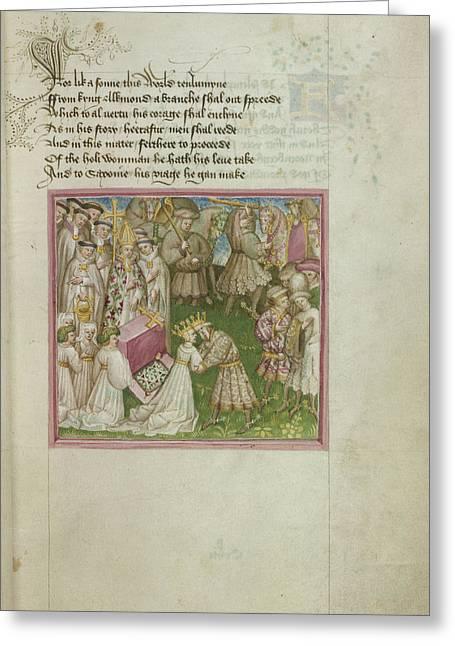 Return Of Alkmund To Saxony Greeting Card by British Library