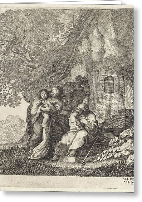 Return Of The Holy Family From Egypt, Moyses Van Wtenbrouck Greeting Card by Moyses Van Wtenbrouck And Matheus Moysesz. Van Wtenbrouck