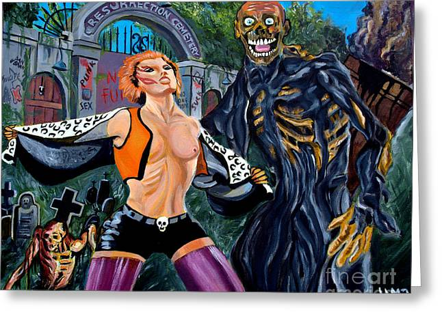 Return Of The Living Dead Greeting Card by Jose Mendez