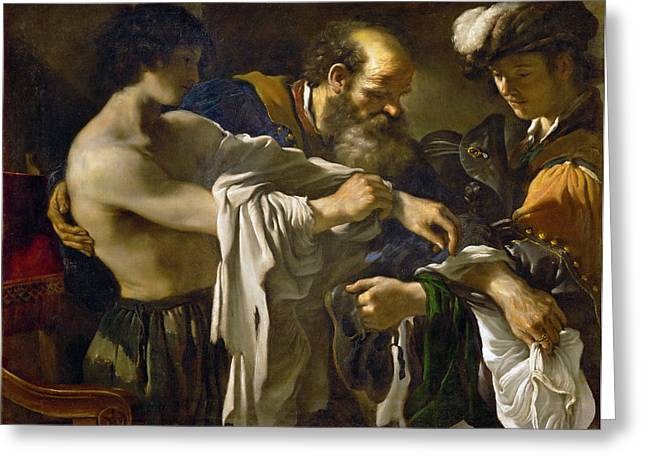 Return Of The Prodigal Son Greeting Card by Guercino