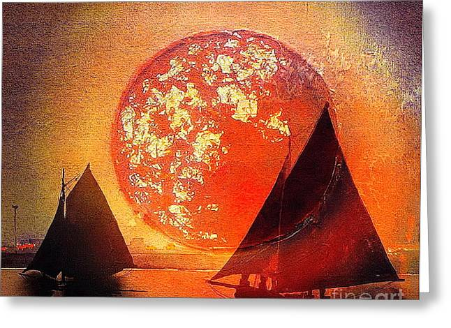 Returning Home Greeting Card by Val Byrne