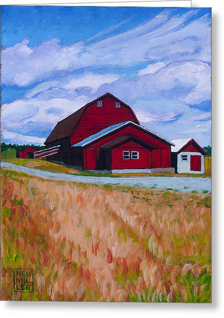 Reuble Barn Whidbey Island Greeting Card by Stacey Neumiller