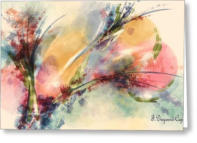 Reve Greeting Card by Francoise Dugourd-Caput