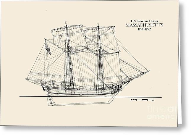 Revenue Cutter Massachusetts Greeting Card by Jerry McElroy - Public Domain Image