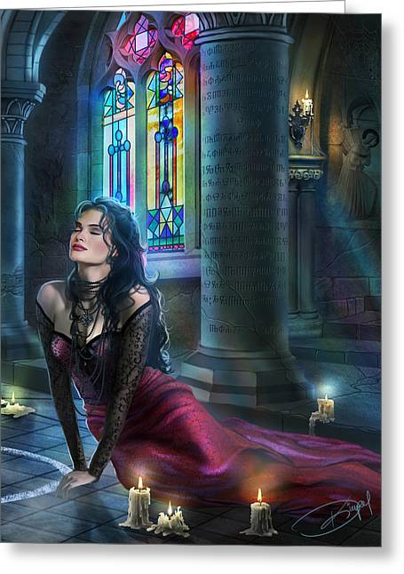 Reverence Variant 3 Greeting Card by Drazenka Kimpel