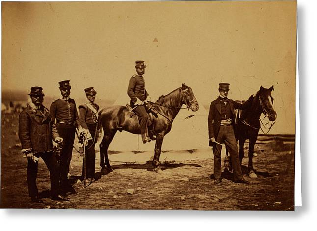 Reverend Mr. Butler & Officers Of The 47th Regiment Greeting Card