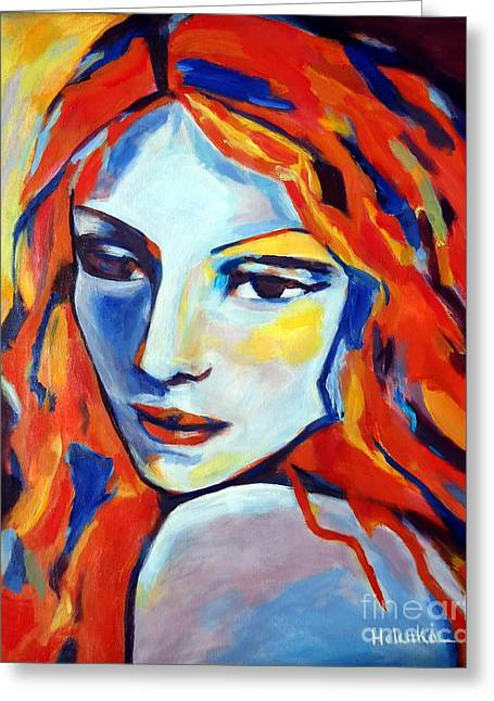 Greeting Card featuring the painting Reverie by Helena Wierzbicki