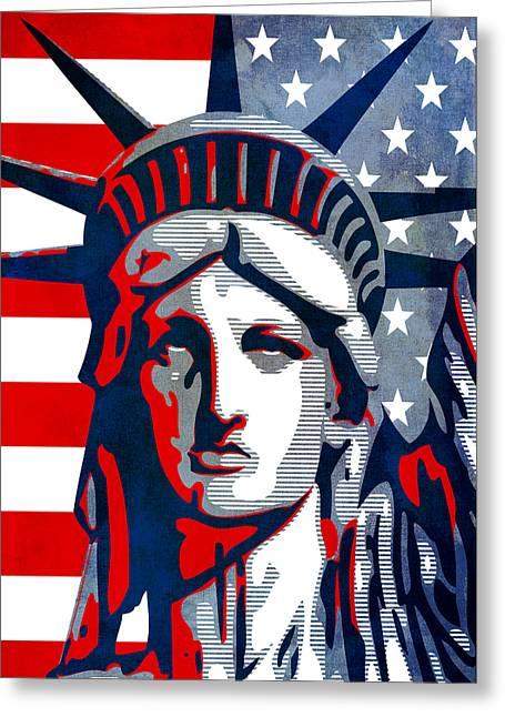 Reversing Liberty 1 Greeting Card by Angelina Vick