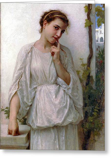 Revery Greeting Card by William Bouguereau
