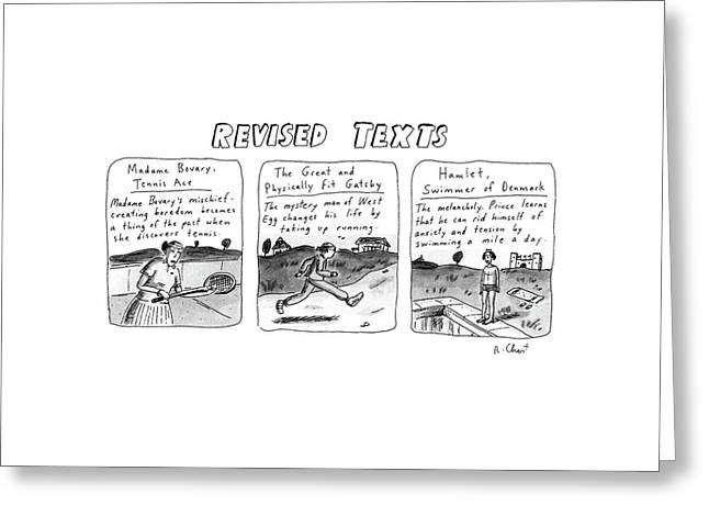 Revised Texts Greeting Card by Roz Chast