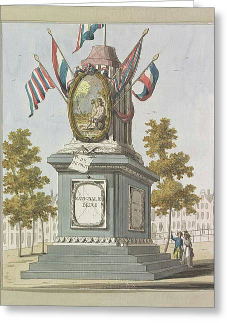 Revolution, Decorations On The Place Royale Greeting Card