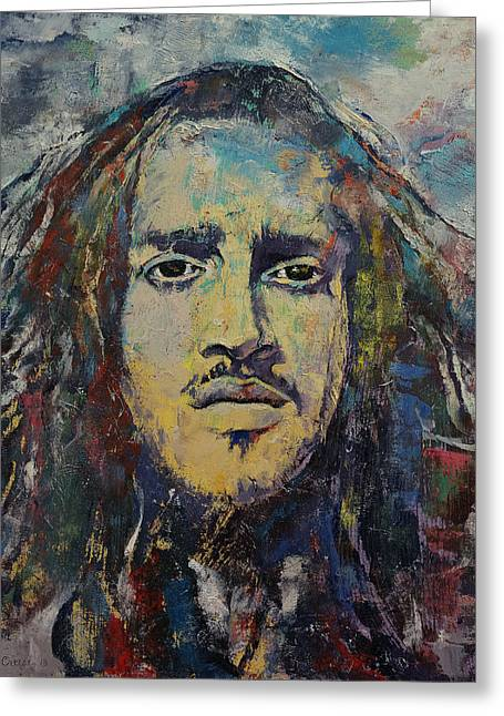 John Frusciante Greeting Card by Michael Creese