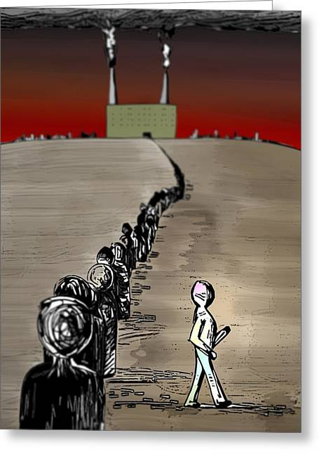 Revolution Greeting Card by Paul  Griffin