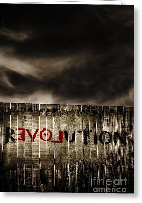 Revolution. The Writings Is On The Wall Greeting Card by Jorgo Photography - Wall Art Gallery