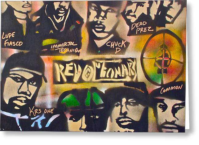 Revolutionary Hip Hop Greeting Card by Tony B Conscious