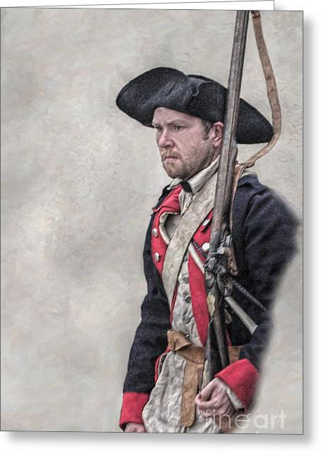 Revolutionary War American Soldier Two Greeting Card by Randy Steele