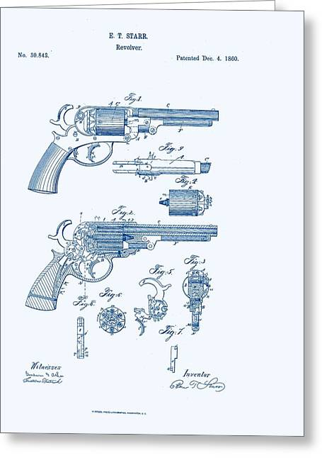 Revolver Patent E.t Starr Greeting Card by Georgia Fowler