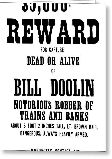 Reward Poster Greeting Card by Granger