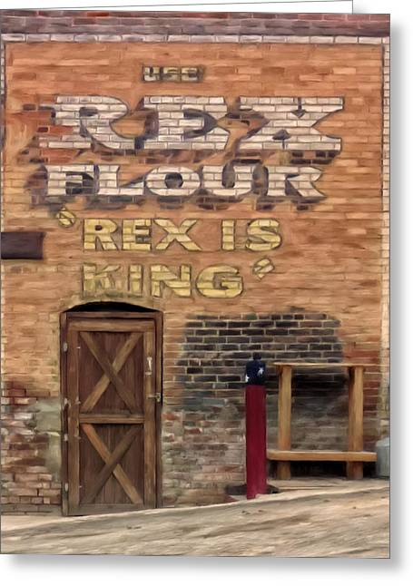 Rex Is King Greeting Card by Michael Pickett
