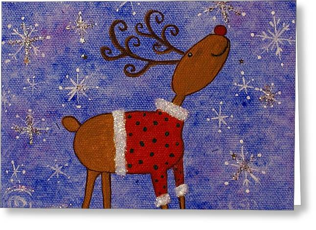 Rex The Reindeer Greeting Card