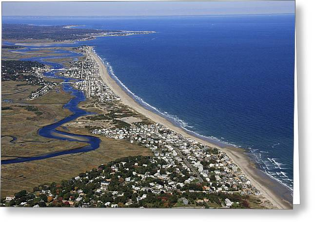Rexhame And Humarock, Marshfield Greeting Card by Dave Cleaveland