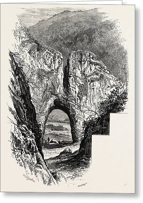 Reynards Cave, Dove Dale, The Dales Of Derbyshire Greeting Card by English School