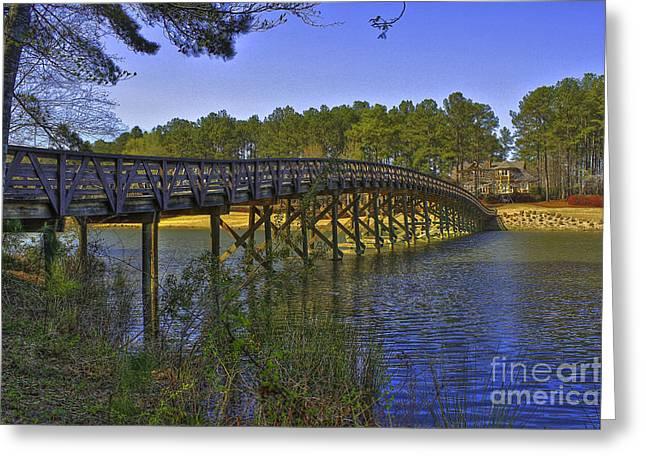 Reynolds Plantation Arch Bridge Greeting Card by Reid Callaway
